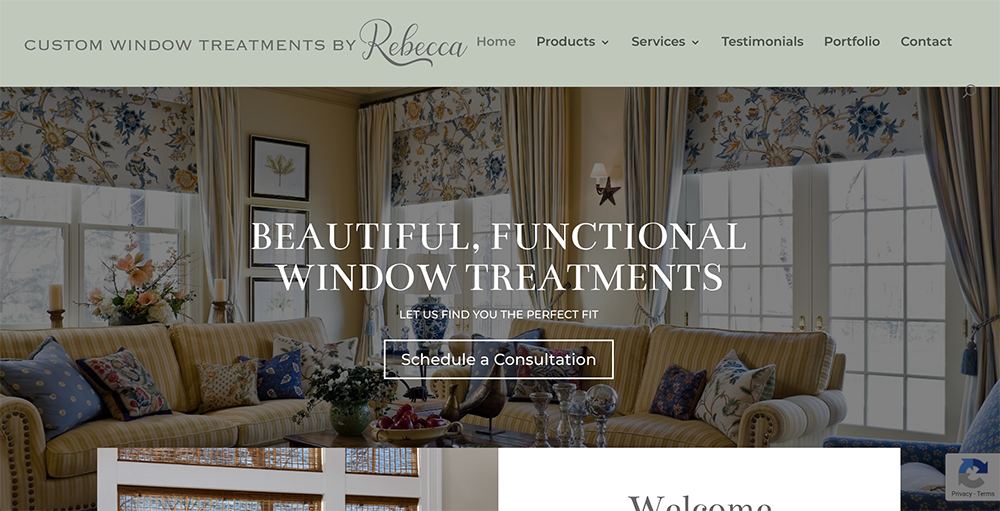 Custom Window Treatments by Rebecca