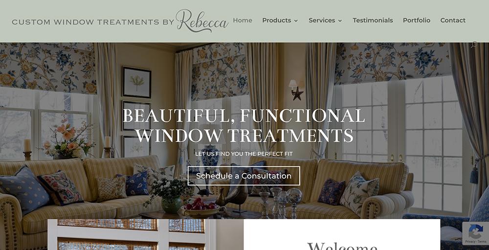 Custom Window Treatments by Rebecca